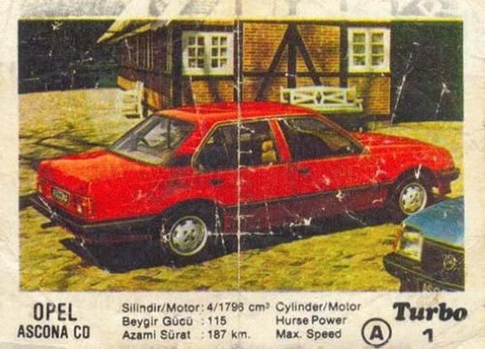 Наше детство: история Opel Ascona из вкладыша Turbo под №1