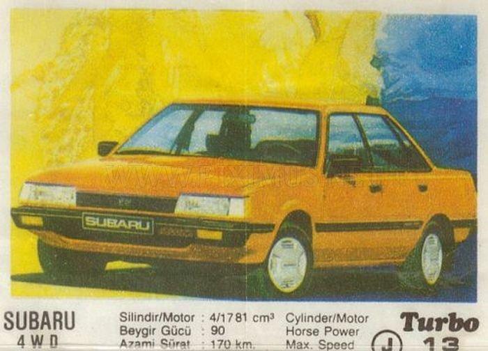 Subaru Leone — первая полноприводная легковушка из фантика Turbo №13
