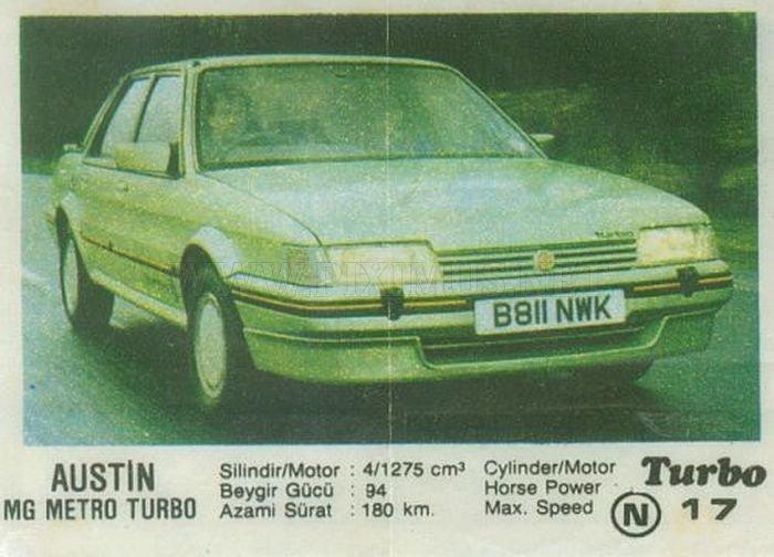 Жевательная ностальгия: MG Montego Turbo из вкладыша Turbo №17