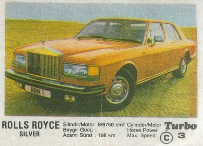Наше детство: история Rolls-Royce Silver Spur из фантика Turbo под №3