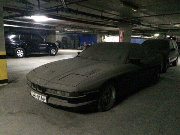Печальное зрелище: заброшенный спорткар BMW 850 в Днепропетровске
