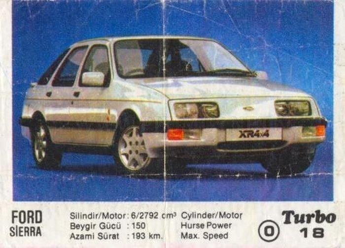 Массовая звезда 80-х: Ford Sierra XR 4X4 из вкладыша Turbo №18