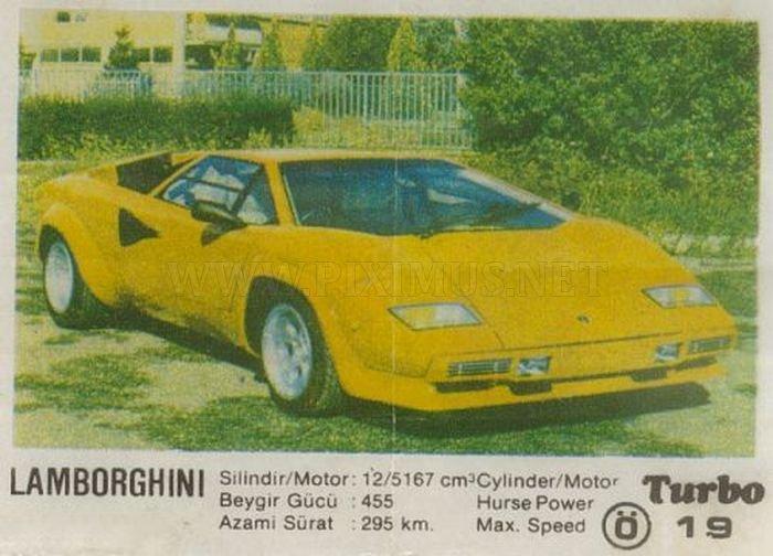 Круче только яйца: Lamborghini Countach из вкладыша Turbo №19