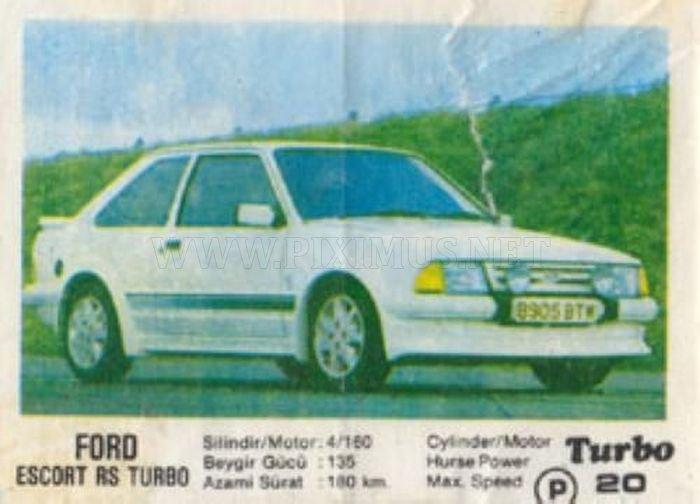 Знакомый незнакомец: Ford Escort RS Turbo из фантика Turbo №20