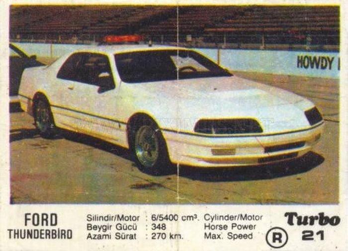 Большой американец: Ford Thunderbird с вкладыша Turbo №21