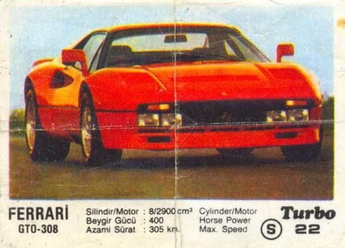 Красный жеребец для ралли: Ferrari 288 GTO с фантика Turbo №22