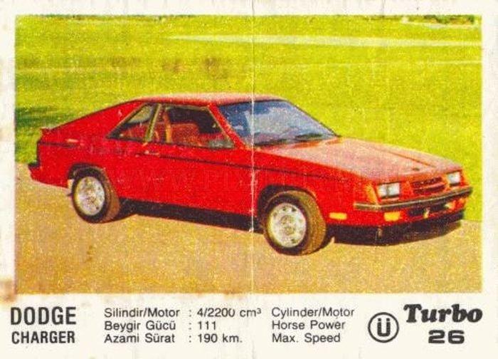 Знаменитое имя: Dodge Charger с вкладыша Turbo №26