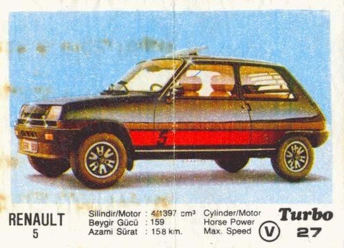 Карманная зажигалка: Renault 5 GT Turbo с вкладыша Turbo №27