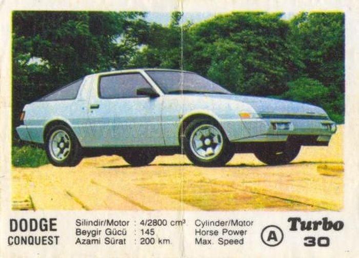 Американский японец: Dodge Conquest с вкладыша Turbo №30