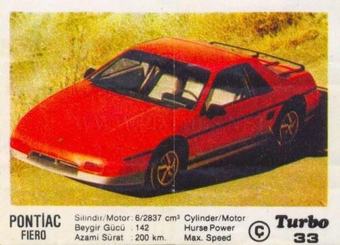 Необычный янки: Pontiac Fiero с вкладыша Turbo №33