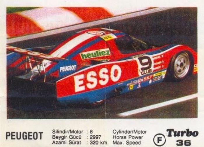 Рекордсмен из 80-х: болид WM-Peugeot P82 с вкладыша Turbo №36