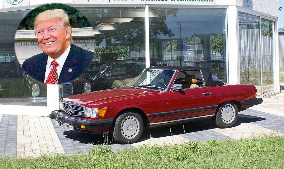 Старый Mercedes Дональда Трампа продают по цене нового Порше Кайен