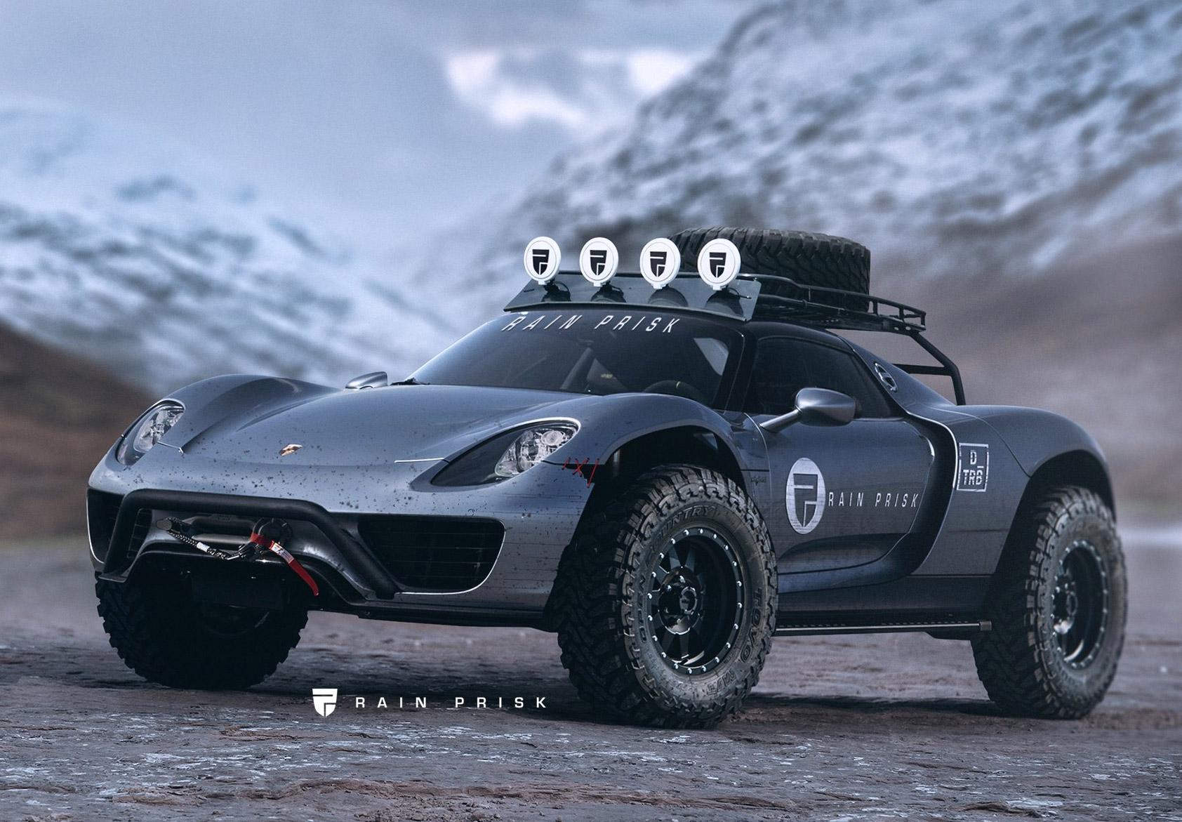 Почему бы и нет? Экстремальный внедорожник из супергибрида Porsche 918 Spyder
