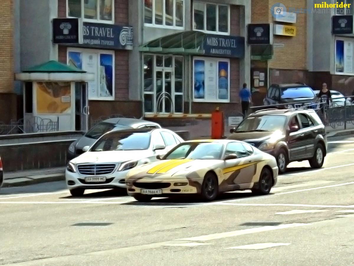 В Украине впервые засветилась Ferrari 456 GT в боевой раскраске