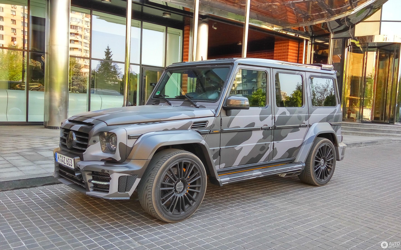 В Украине засняли уникальный Mercedes G-Class от Mansory в камуфляже