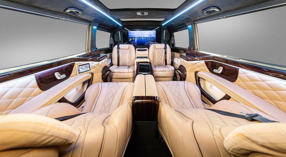 Первые фото роскошного вэна Mercedes-Maybach V-Class