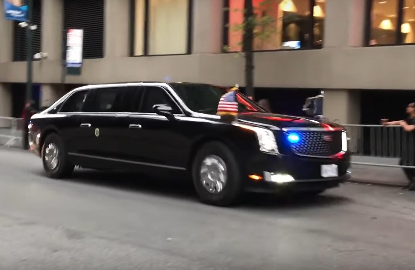 Новейший лимузин Дональда Трампа впервые засняли на публике
