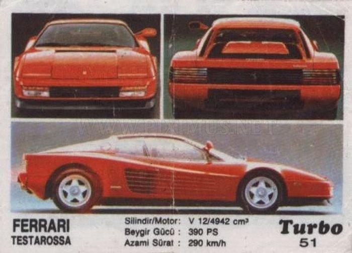 Интересные факты о культовой Ferrari Testarossa с вкладыша Turbo