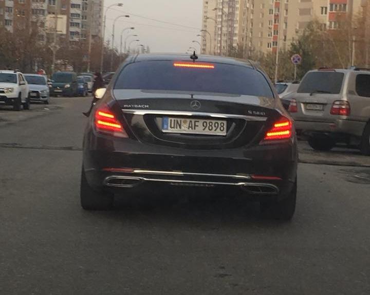 В Украине засветился роскошный Maybach на еврономерах