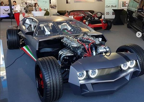 Старый суперкар Lamborghini превратили в безумный хот-род