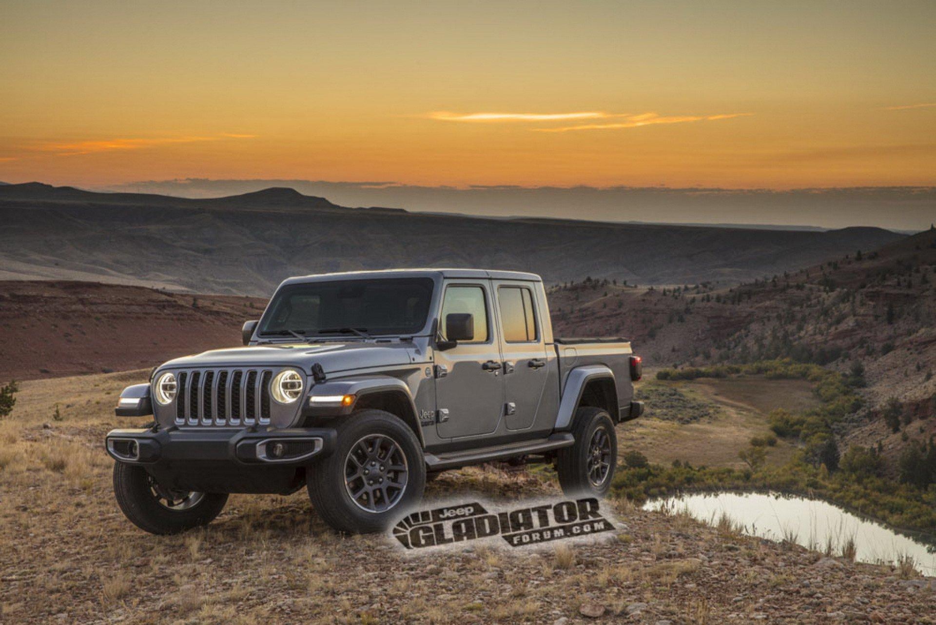 Новейший пикап Jeep Wrangler рассекречен на фото
