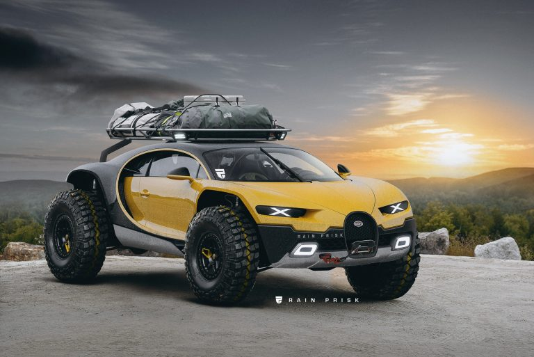 Гиперкар Bugatti Chiron превратили во внедорожник для ралли Дакар