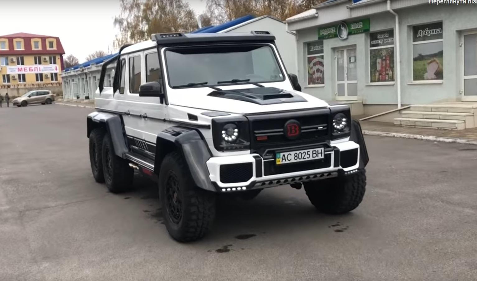 В Украине продают редкий шестиколесный Гелендваген Брабус с ГБО