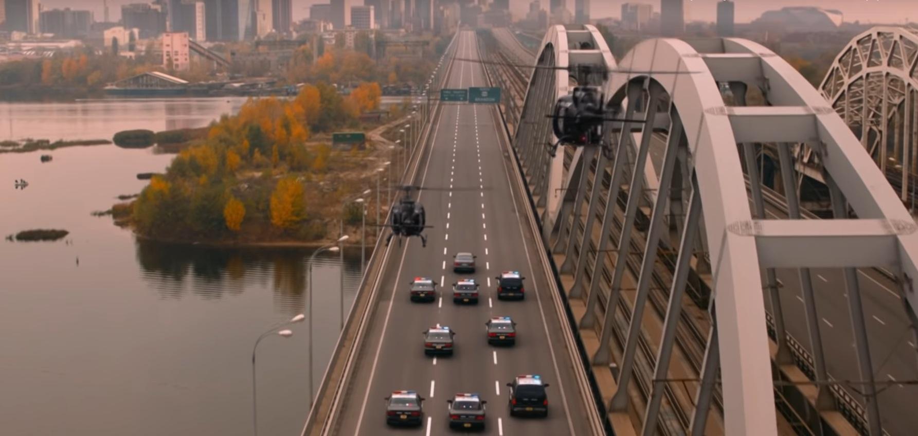 Американскую поп-звезду преследовала полиция на киевском мосту (видео)