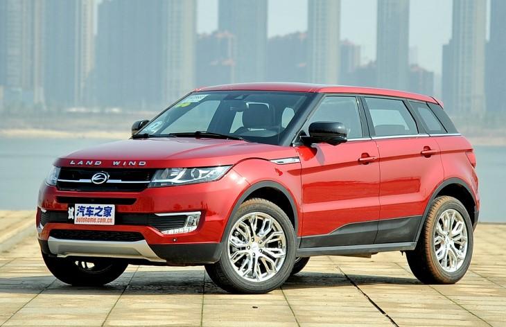 Официально: китайский Ranger Rover получился втрое дешевле оригинала