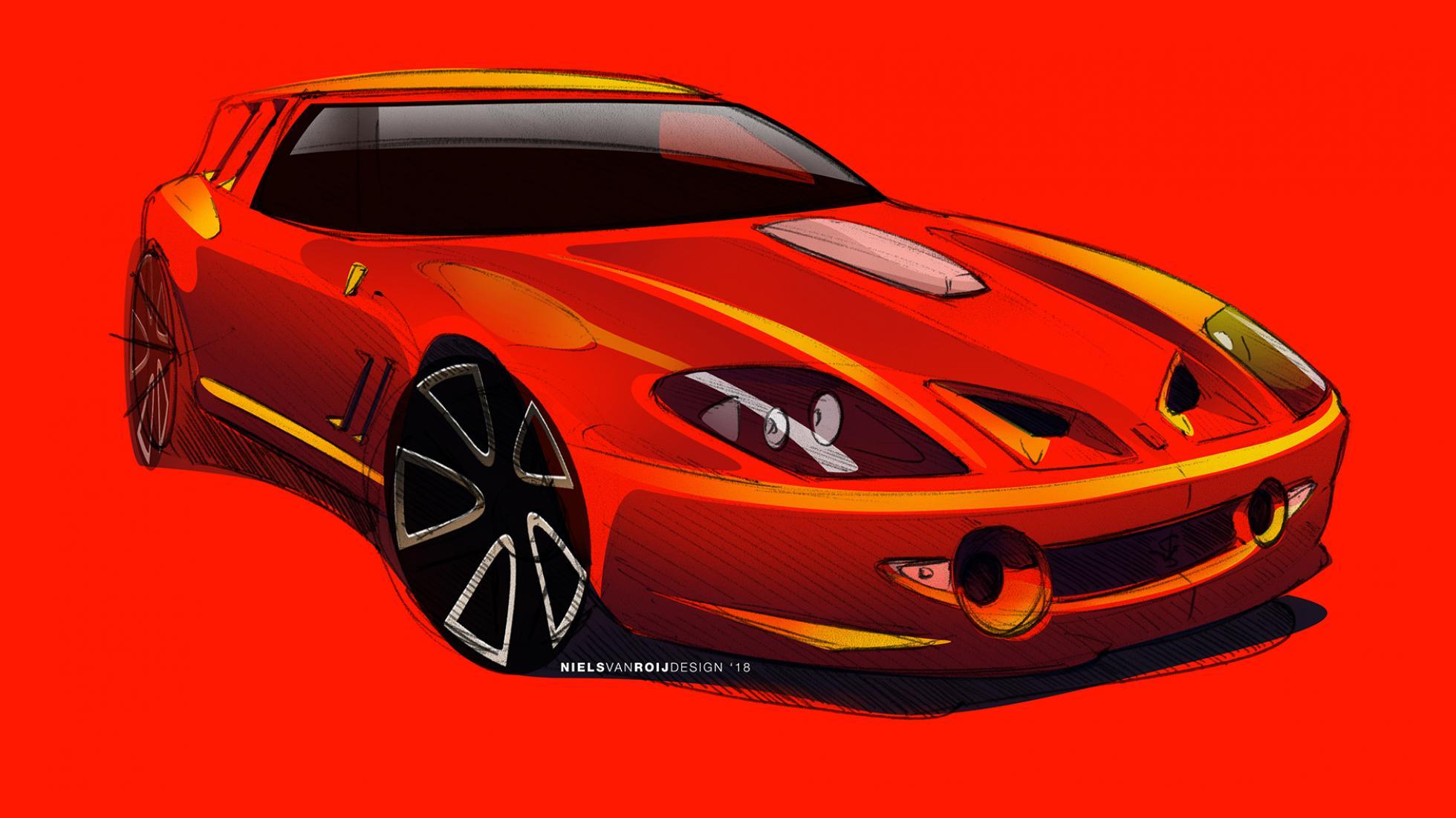 Первые изображения уникального фургона Ferrari