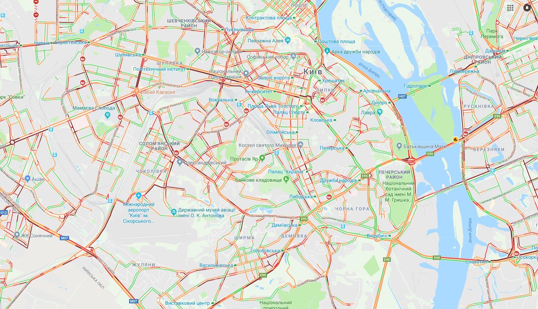 Снегопад в Киеве: столица парализована серьезными пробками