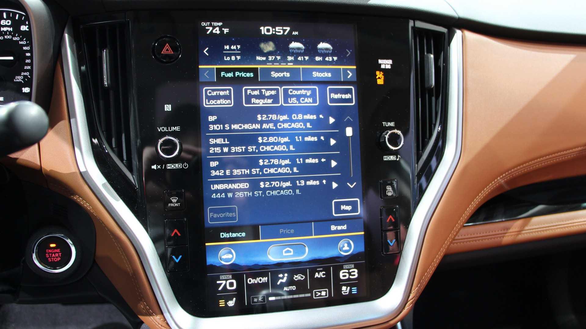 Живые фото и все подробности нового Subaru Legacy 2020