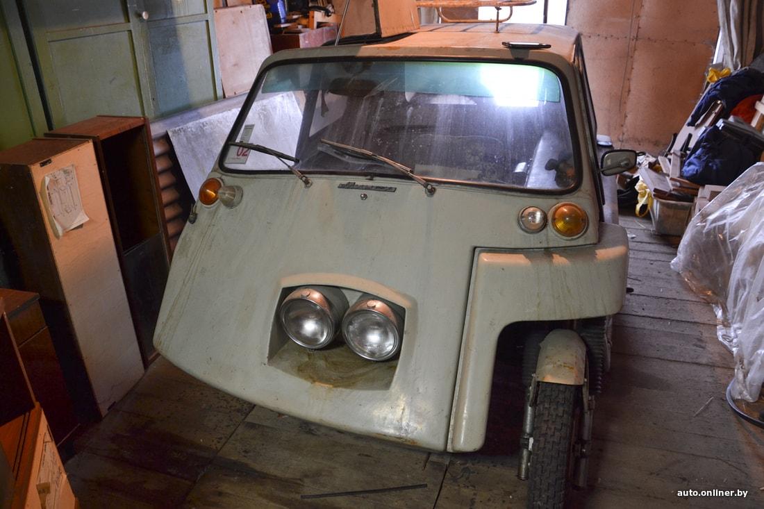 Уникальный автомобиль Ява обнаружен в заброшенном гараже