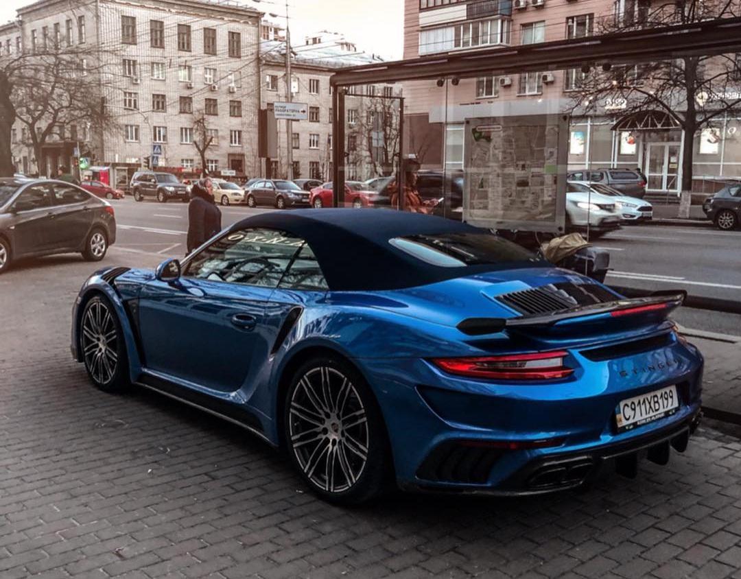 В Украине засняли экстремальный тюнингованный суперкар Porsche