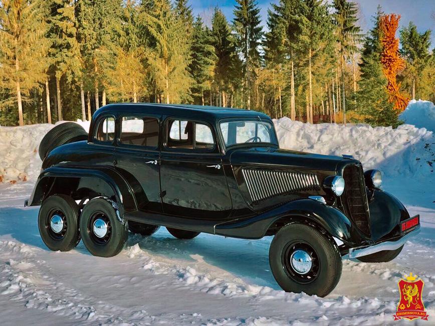 Уникальный шестиколесный внедорожник ГАЗ продают по цене суперкара