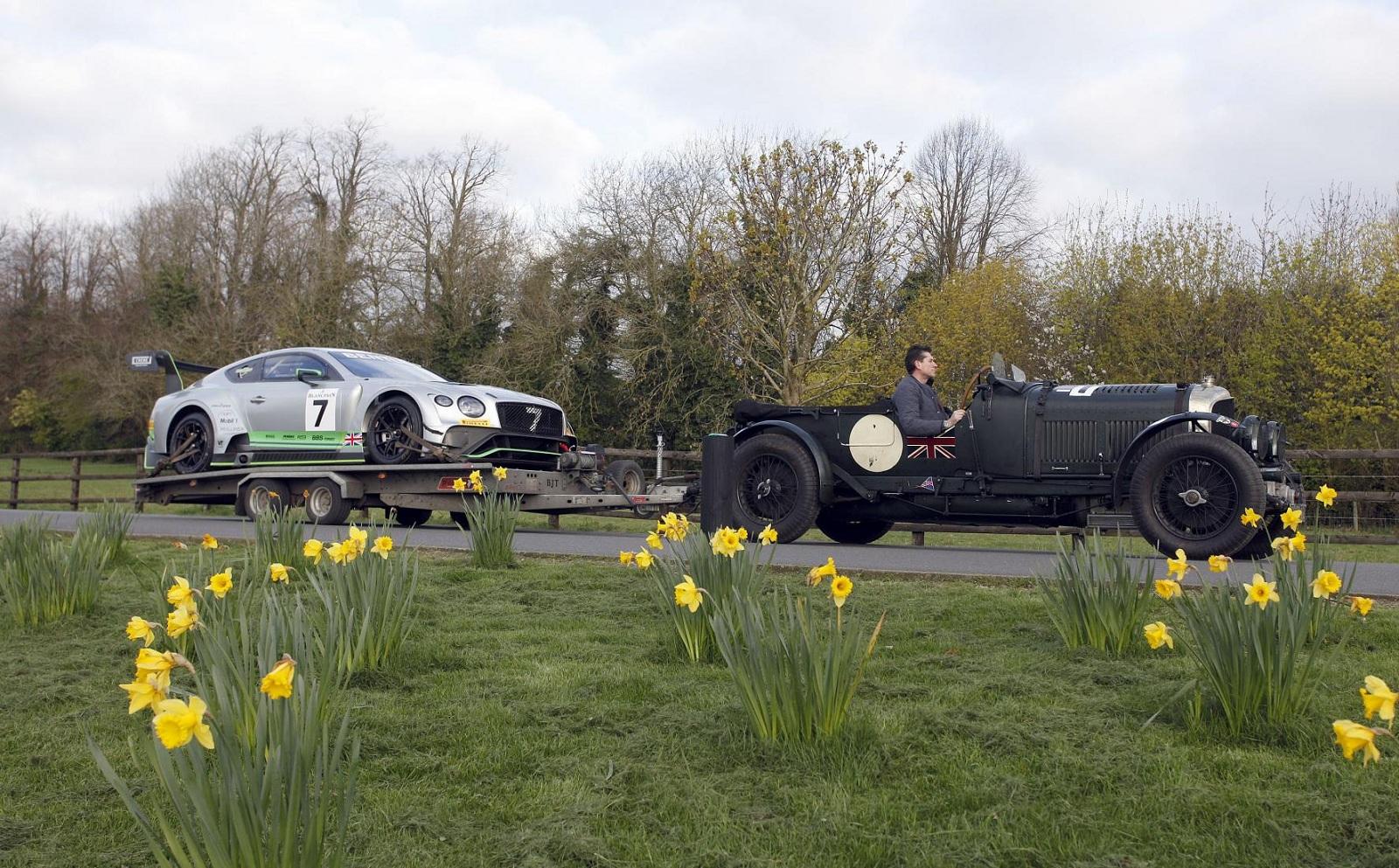 Редчайший коллекционный Bentley используют в качестве тягача