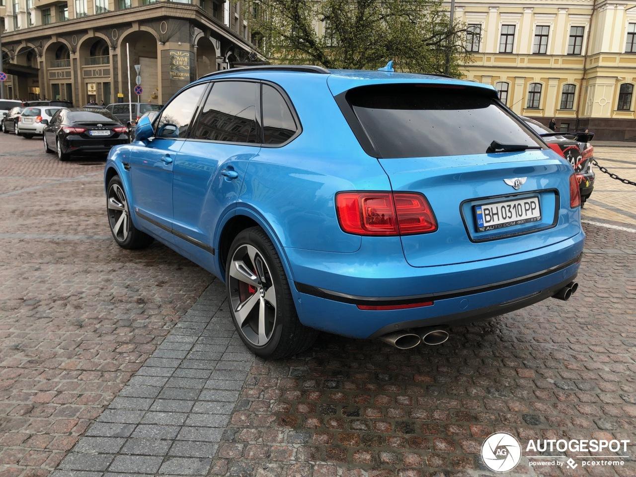 В Украине засняли редчайший Bentley Bentayga лимитированной серии