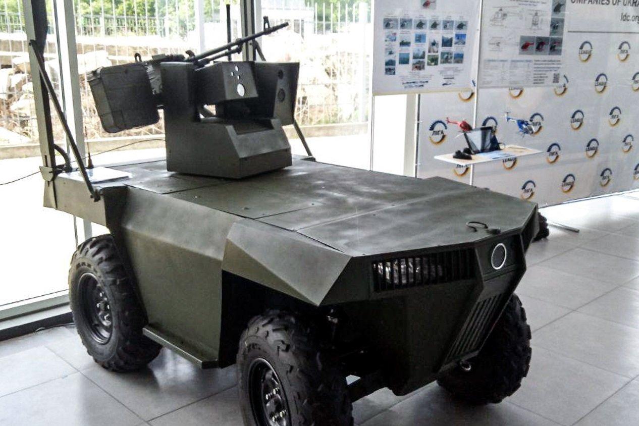 В Украине разработан боевой беспилотный внедорожник