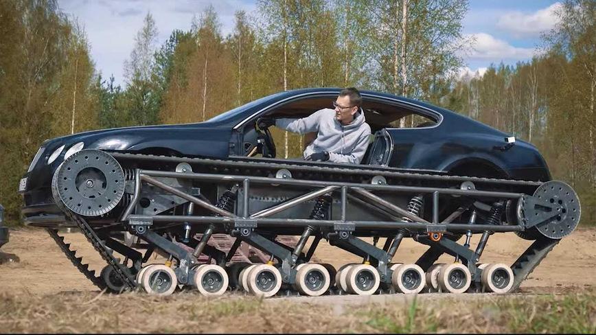 Народный умелец скрестил Bentley и танк (видео)