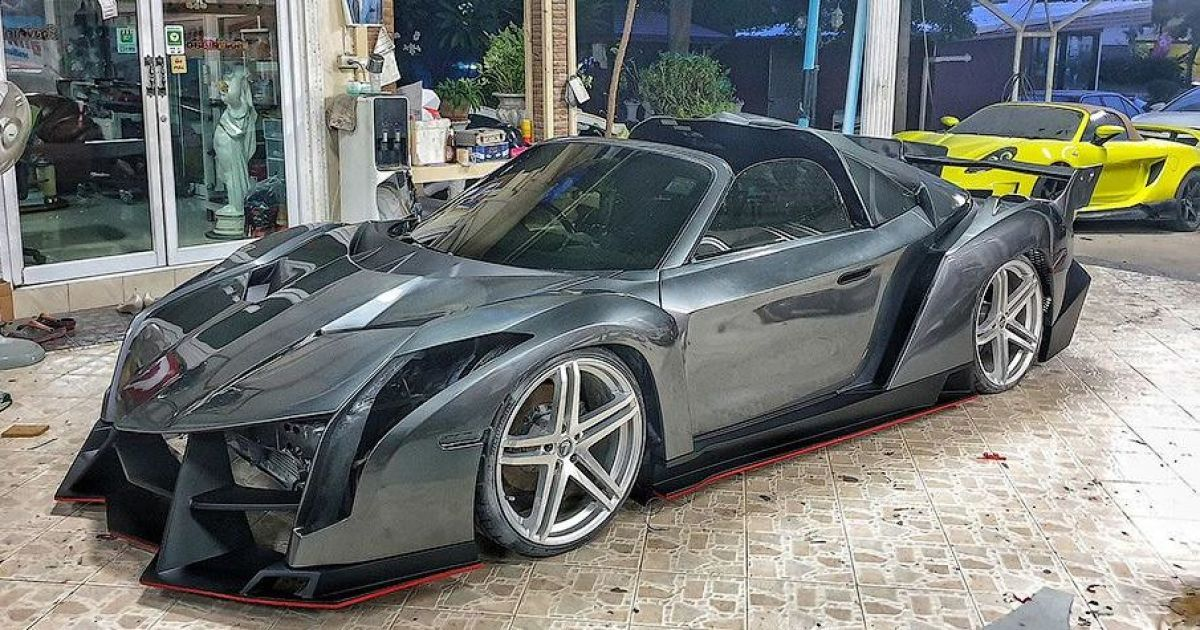 Из старой Тойоты сделали копию редчайшего суперкара Lamborghini