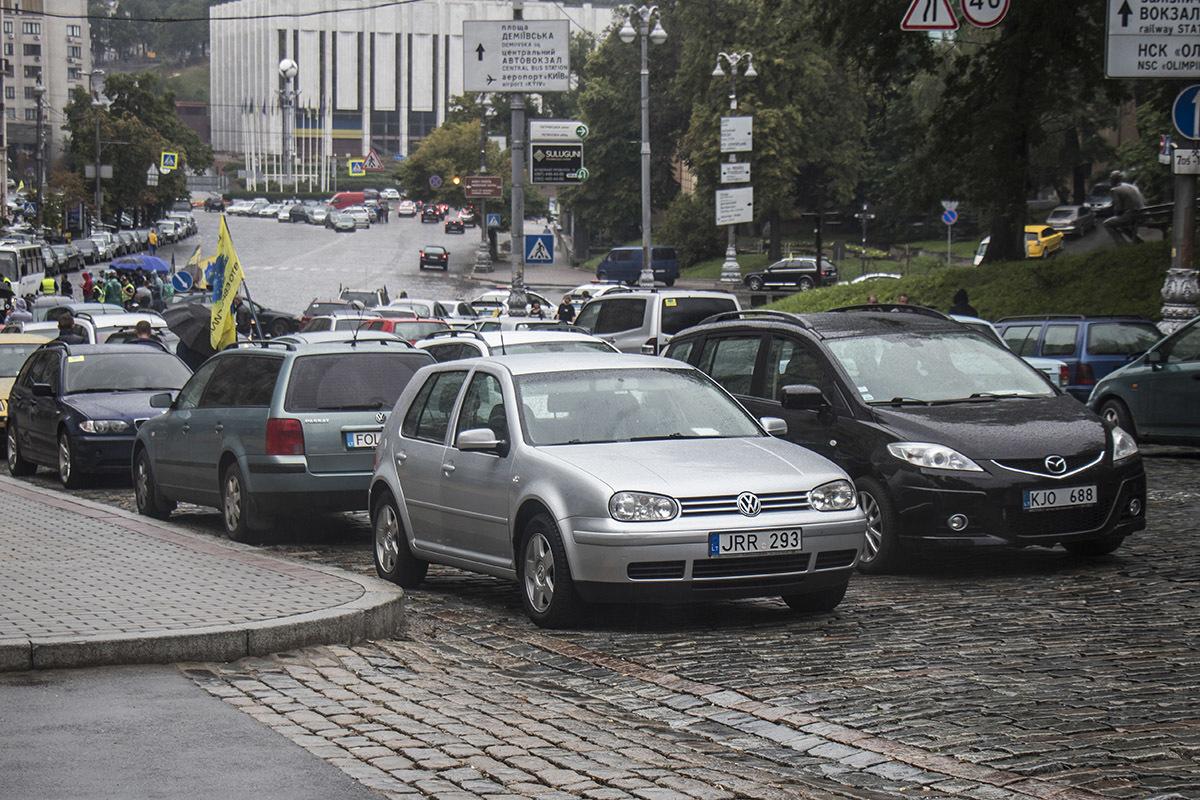 Верховная Рада отложила штрафы владельцам авто на еврономерах