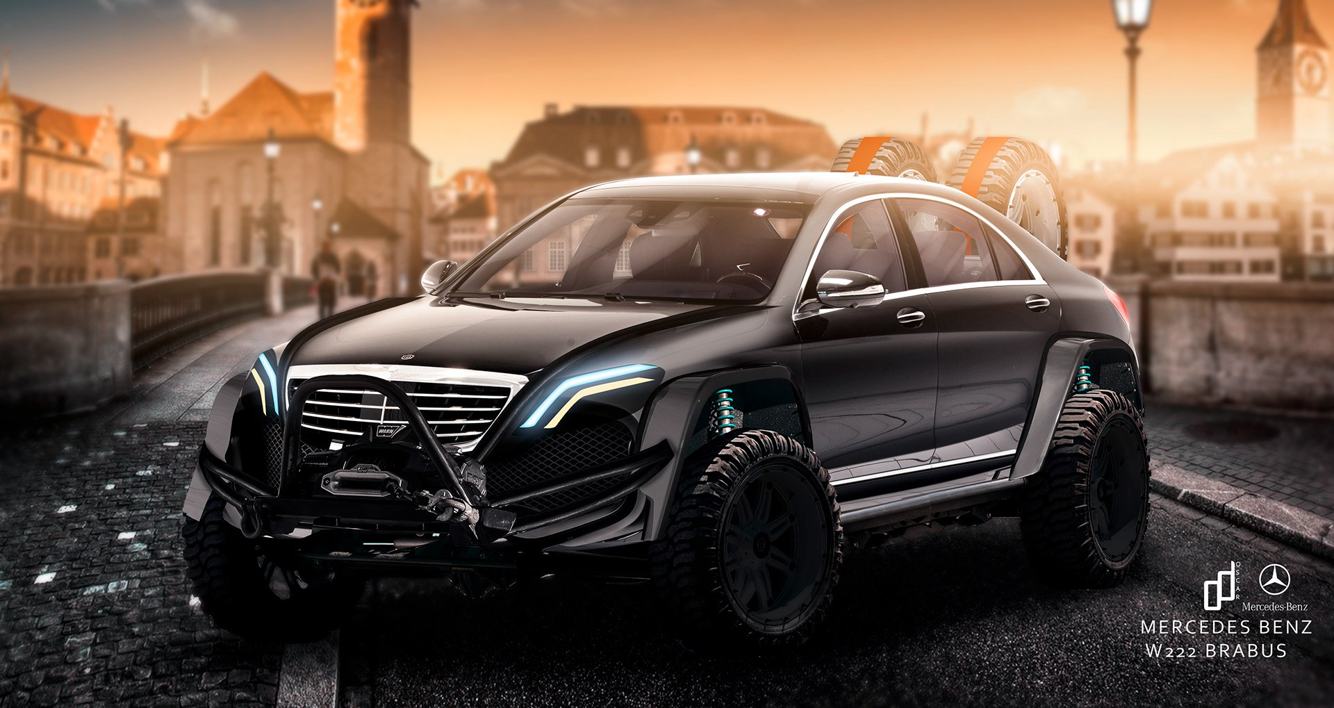 Mercedes S-Class Brabus превратили во внедорожник для ралли Дакар