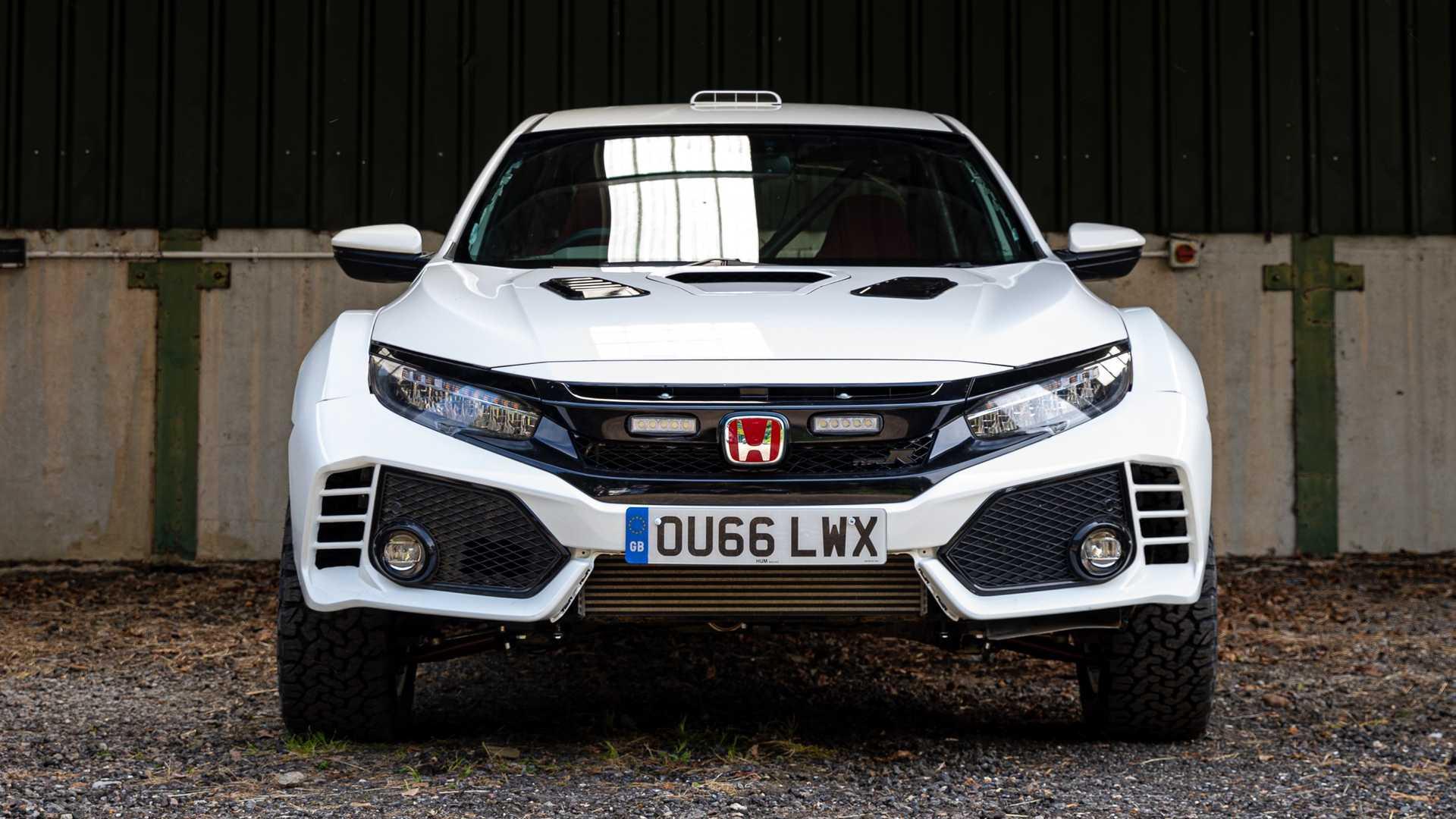 Заряженный Honda Civic Type R 2019 превратили в эффектный кроссовер