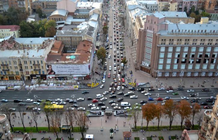 Пробки в Киеве признали одними из самых больших в мире