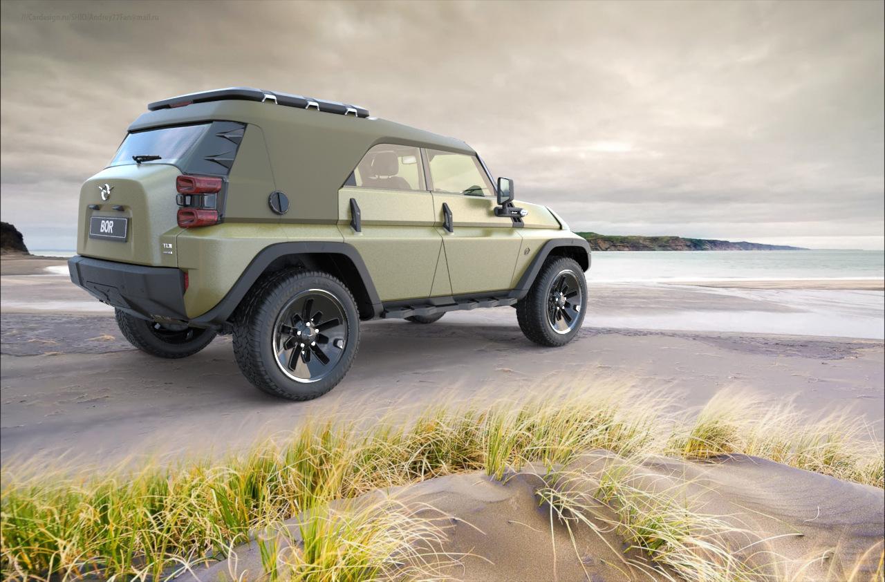 Каким мог быть новый УАЗ 469 как конкурент Jeep Wrangler