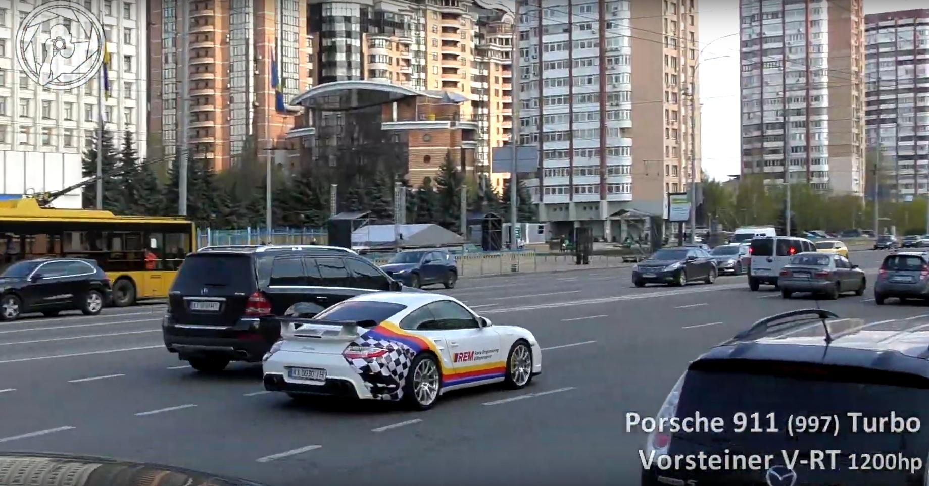 В Украине засветился сверхмощный тюнингованный Porsche 911