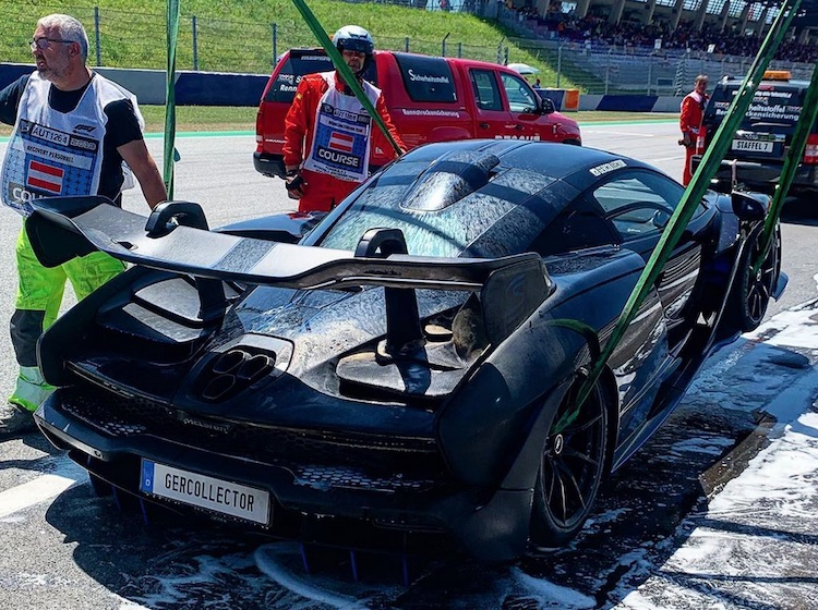 Звездный пилот Формулы-1 чуть не сжег дорогой суперкар McLaren