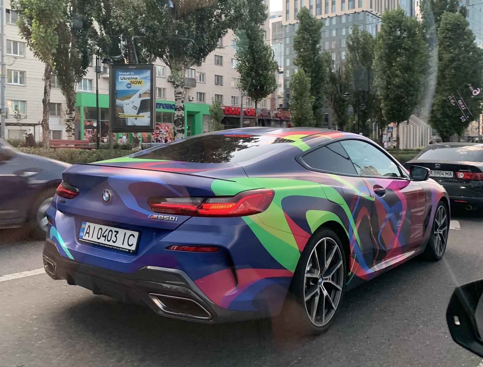 В Украине заметили новейшее купе BMW невероятного цвета