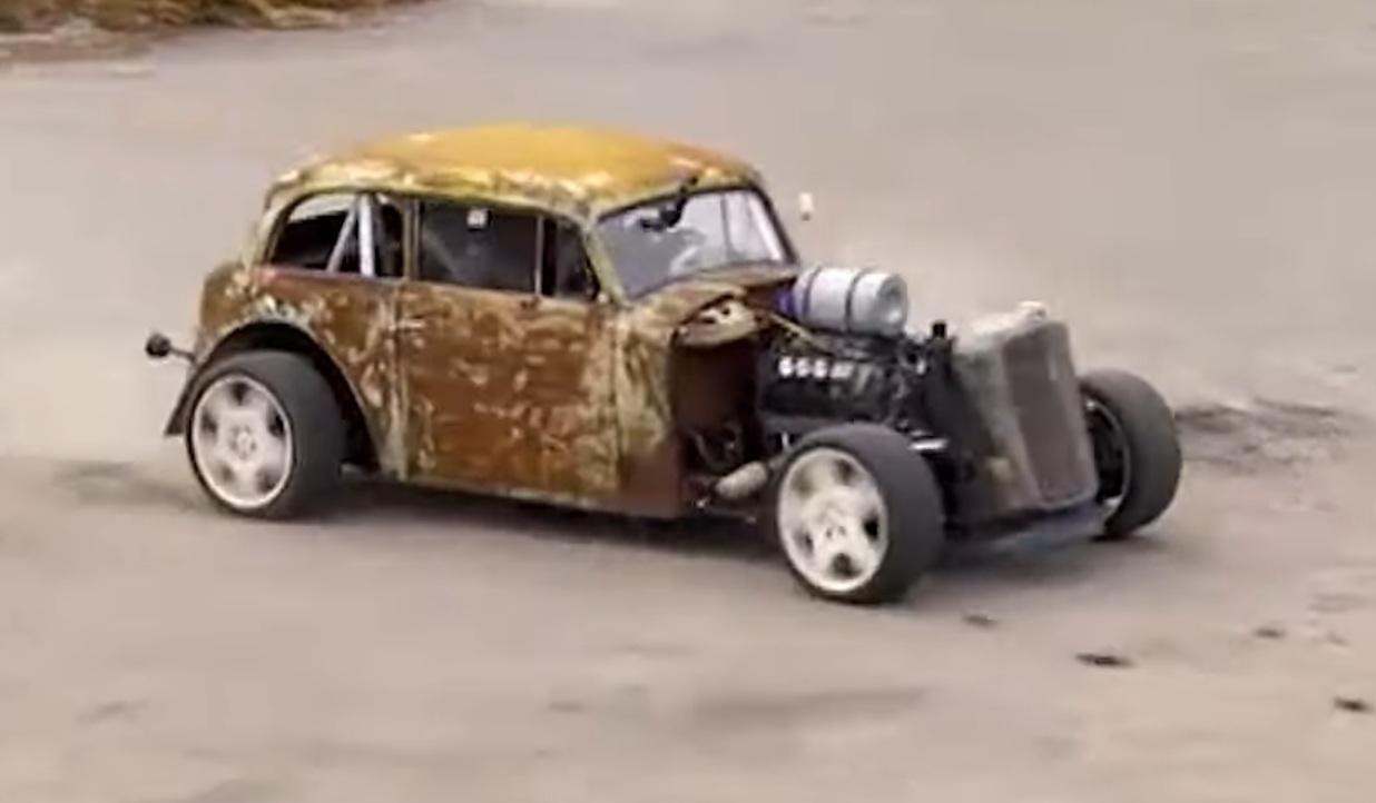 Украинец превратил старый Opel в бешенный хот-род