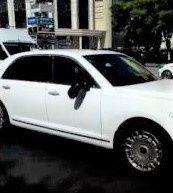 Новенький лимузин Путина столкнулся с маршруткой